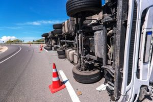 Commercial Truck Maintenance failures can lead to overturned trucks