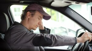 Fatigued truck driver in Baton Rouge Louisiana