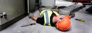 Image showing a person getting injured at work while using drugs at the time of the injury