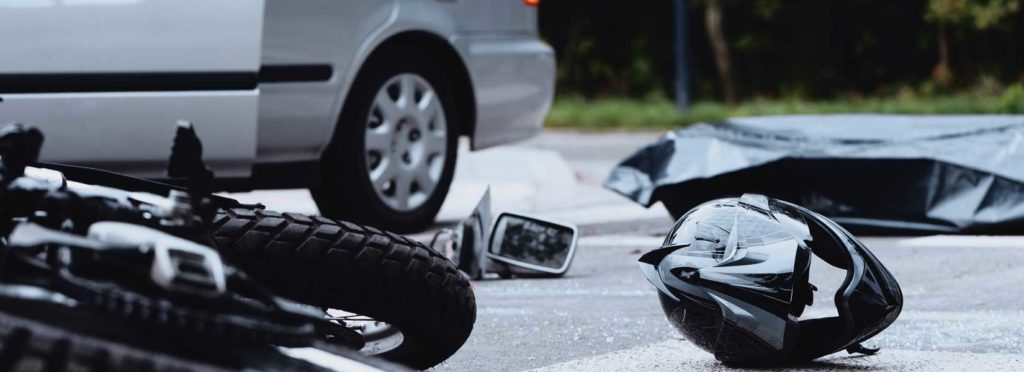 Picture of a Shreveport motorcyclist after a crash